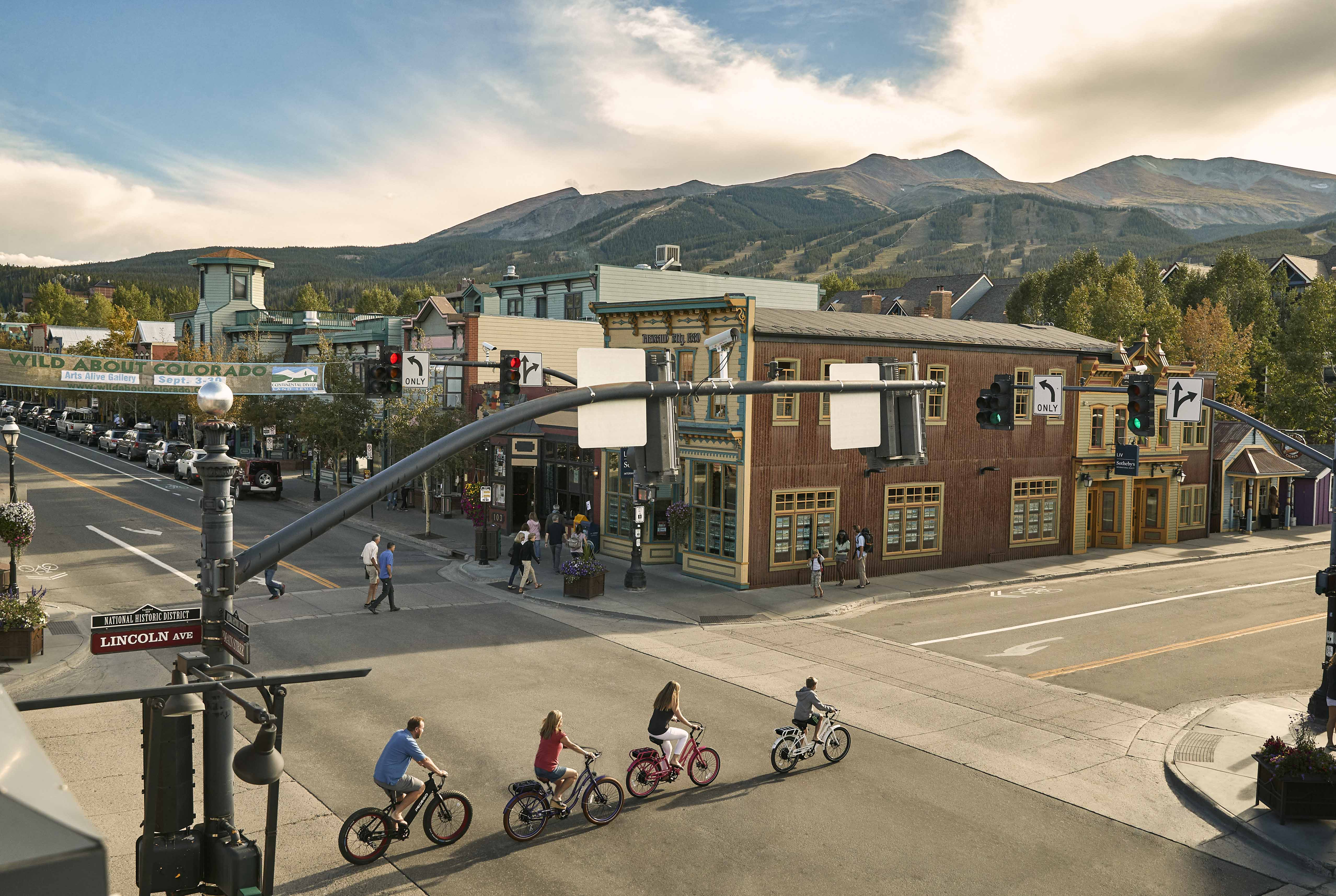 Biking Around Main Street Breckenridge
