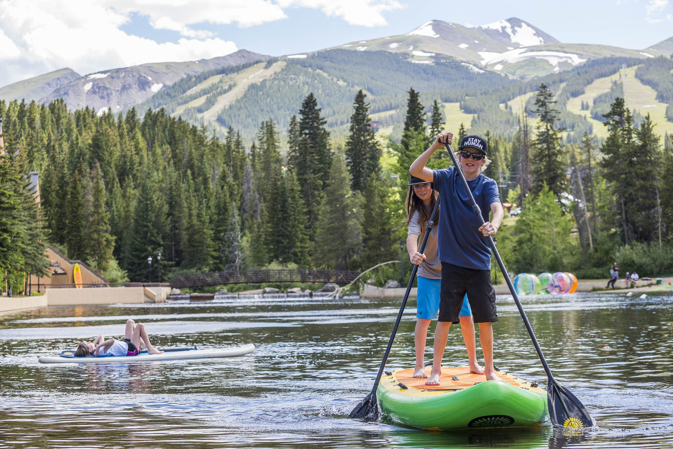 Stand Up Paddle on a Lake in Breckenridge Colorado