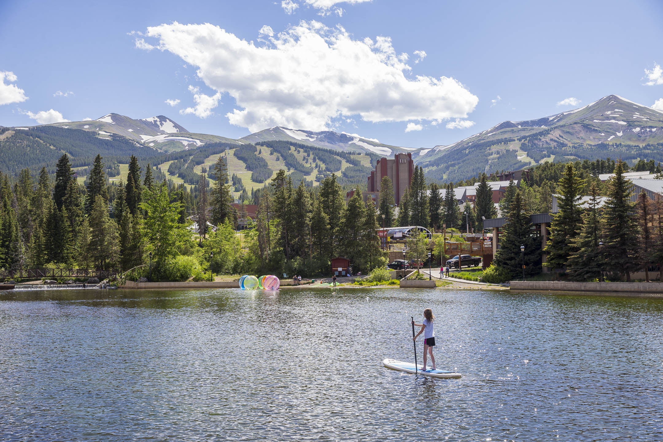 Summer Paddle Boarding Maggie Pond Views